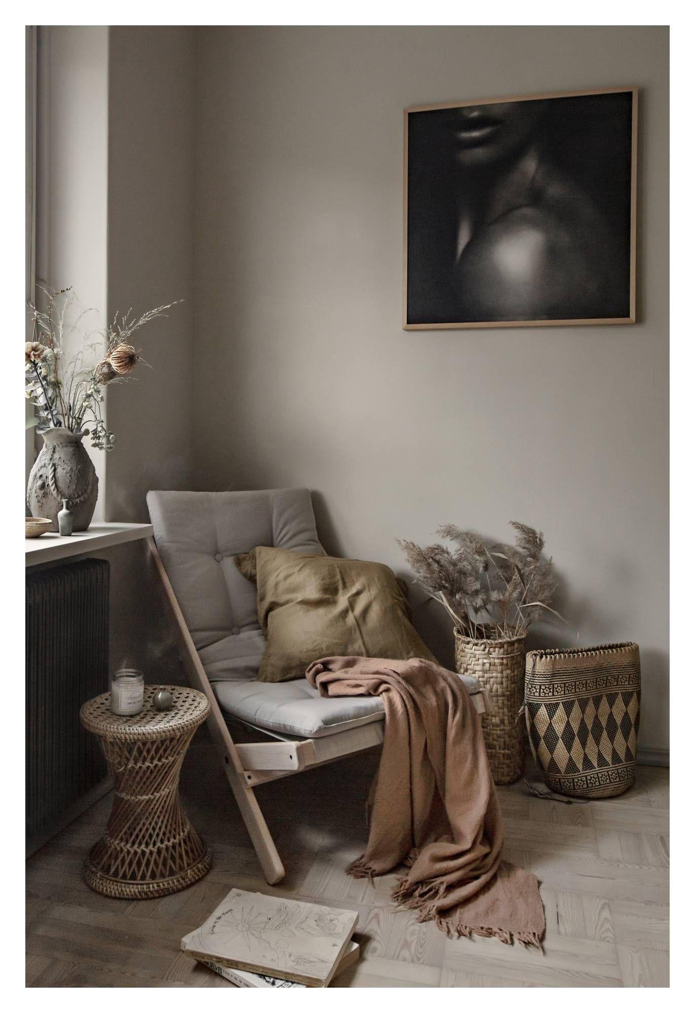 Boogie Lounge stol, Mørkegrå/Natur