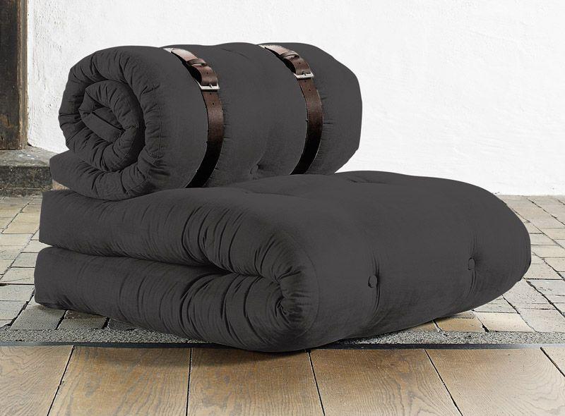 BUCKLE UP - Stol - Grå - Mørkegrå lænestol