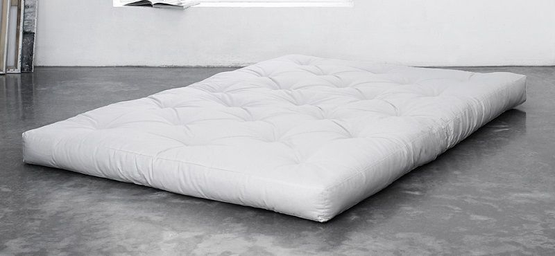 Coco madras 140 cm - Natur - Futon madras i hvid