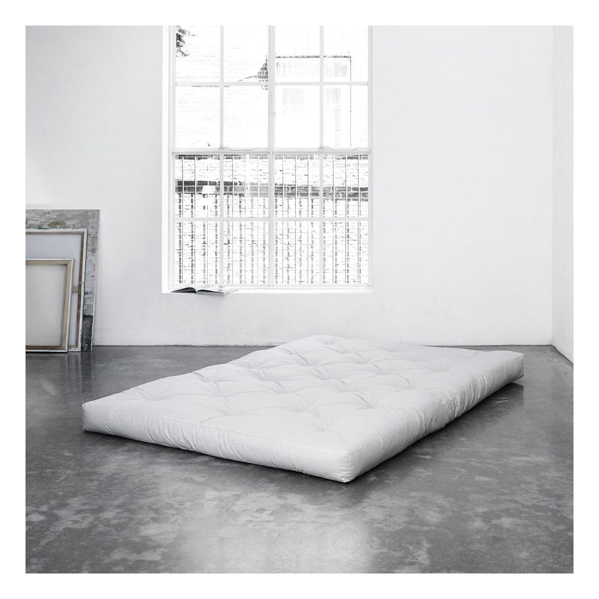 Comfort madras 140x200, Natur - Hvit futon madrass