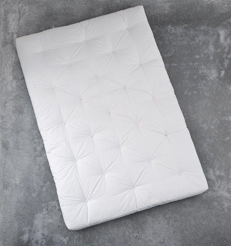 Comfort madras 140 cm - Natur - Hvid futon madras