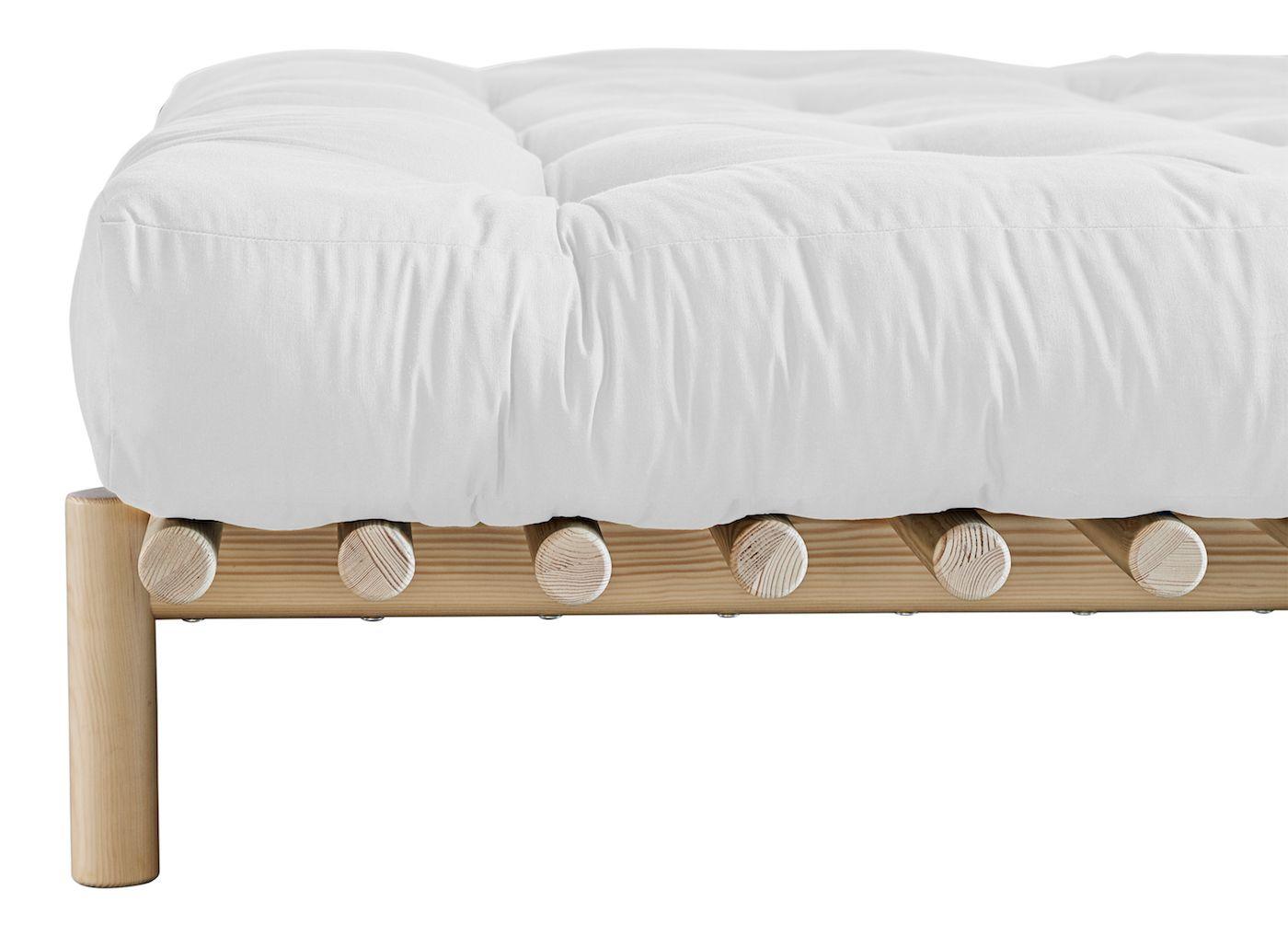 Comfort madras 140 cm - Natur - Hvit futon madrass