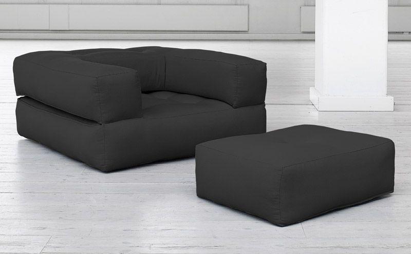 Cube Stol, Mørkegrå - Mørkegrå lenestol