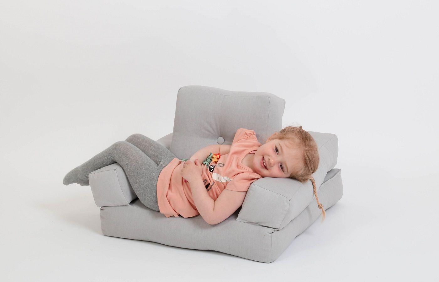 Mini Cube Børnestol, Lysegrå