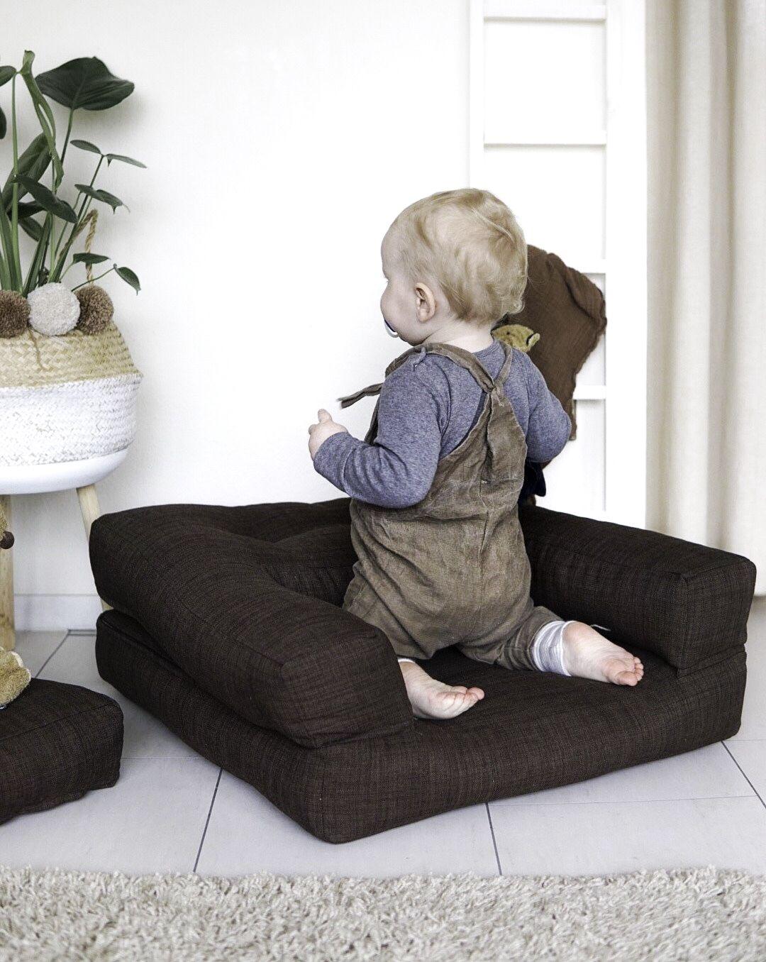 Mini Cube Børnestol, Natur