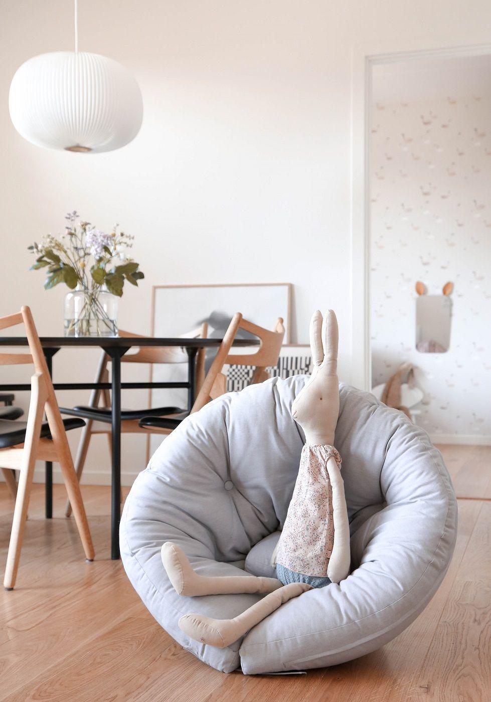 Mini Nido Børnestol/Nest, Lysegrå