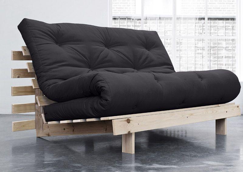 Roots - Sovesofa - 140 cm - Grå - Mørkegrå sovesofa