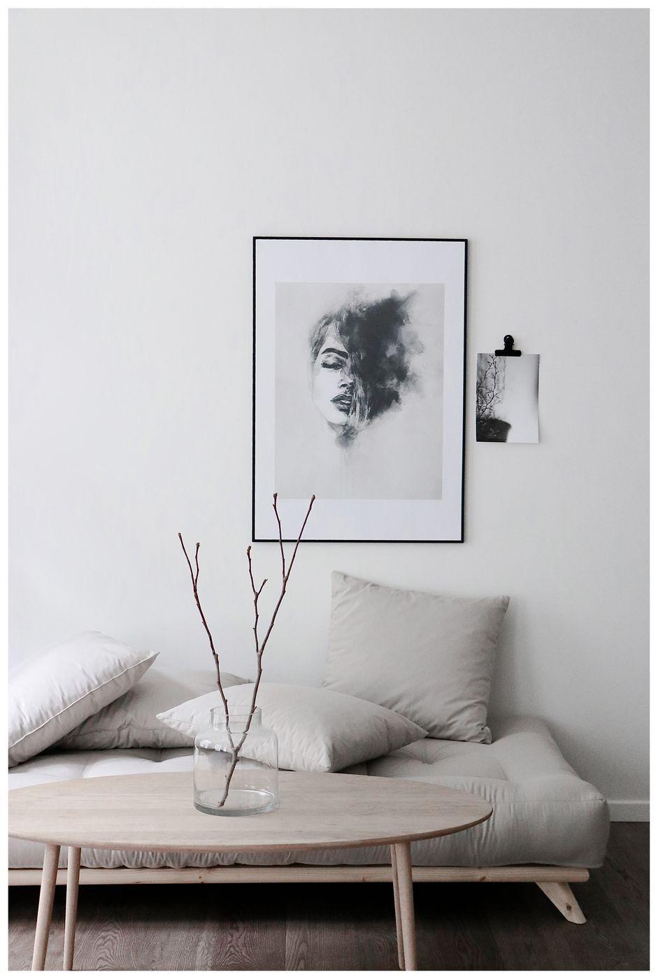 Senza Daybed, Linen/Sort