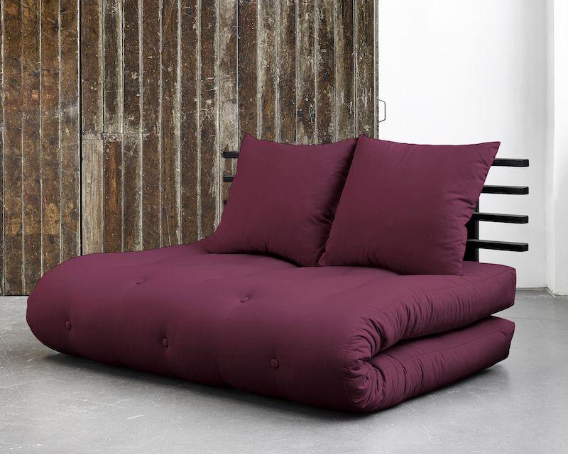 Shin Sano Futon Sofa, Bordeaux/Sort