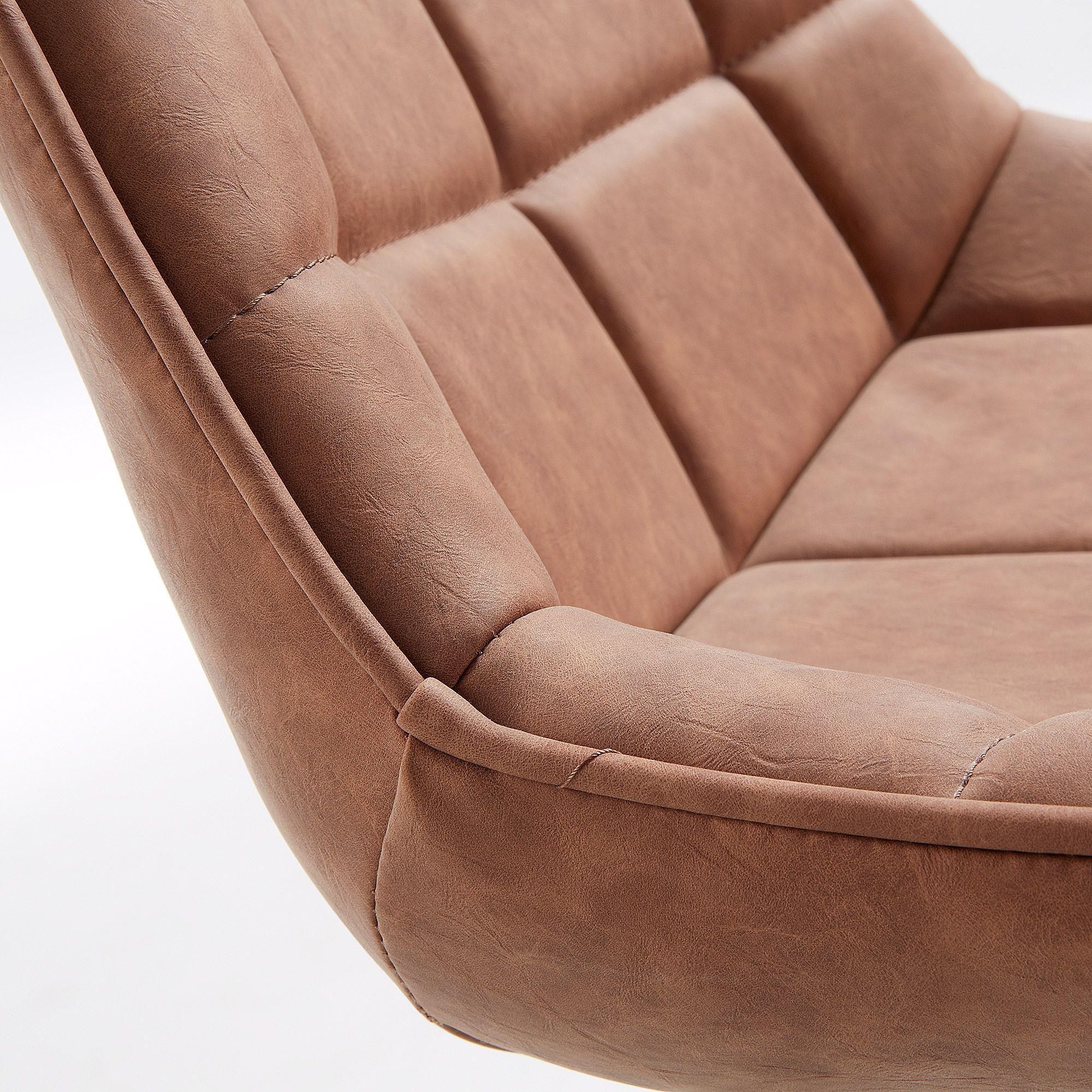 LaForma Adah Spisebordsstol m/kunstlæder - Oxid brown
