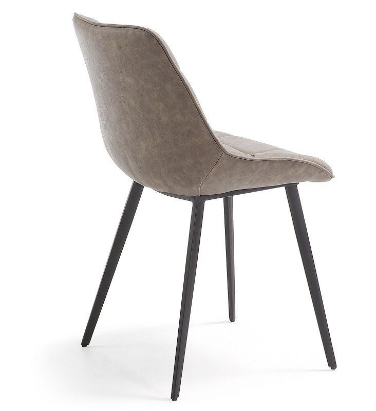 LaForma Adah Spisebordsstol m/kunstlæder - Taupe
