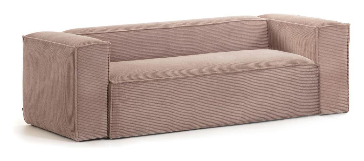 LaForma Blok 2-pers. Sofa - Rosa Fløjl