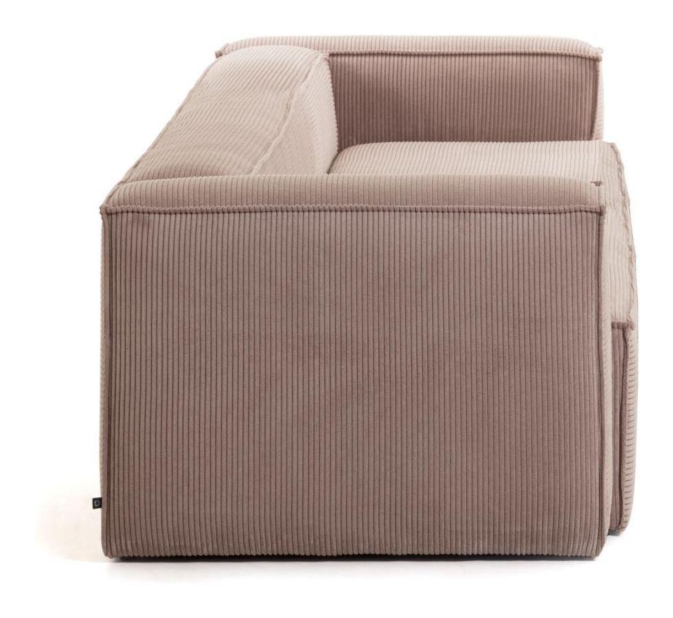 LaForma Blok 3-pers. Sofa - Rosa Fløjl