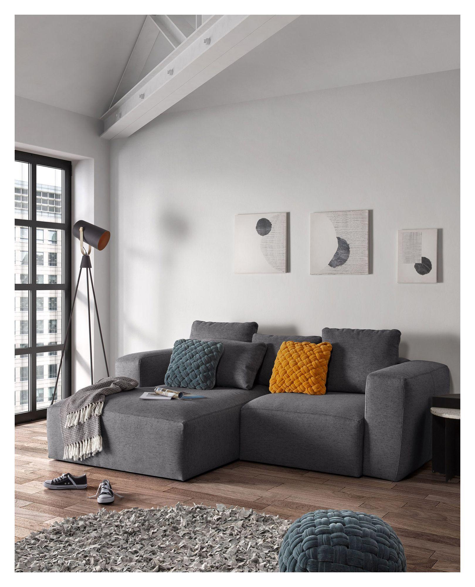 LaForma Blok Pude - Sort, 60x70