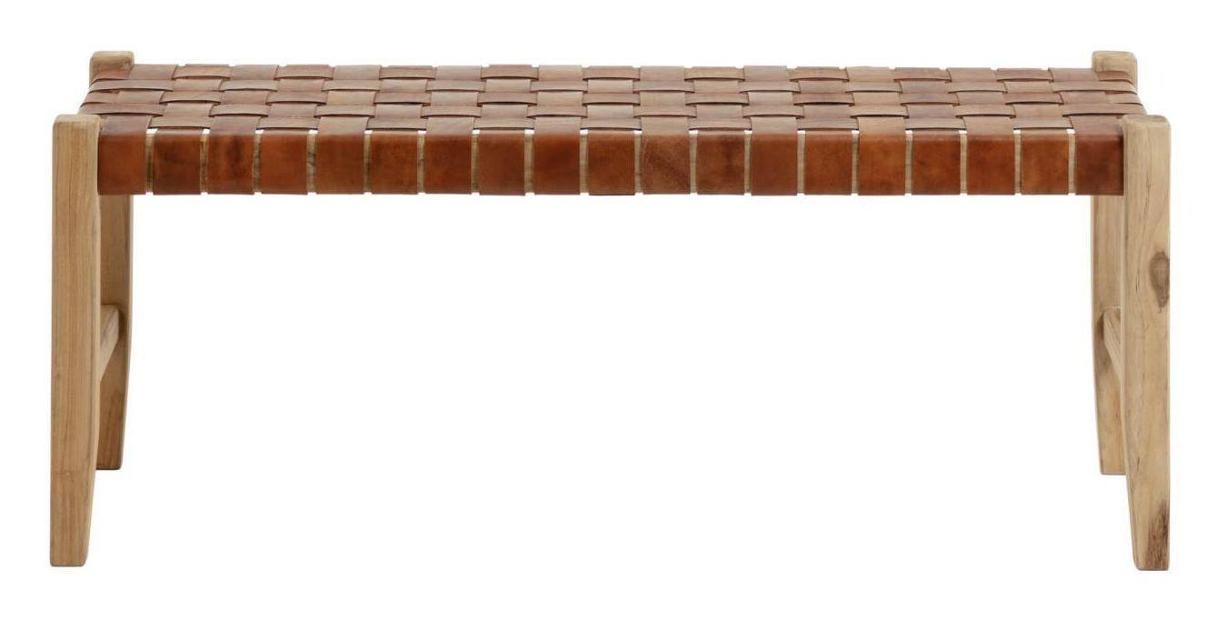 LaForma Calixta Bænk - Teak/Læder