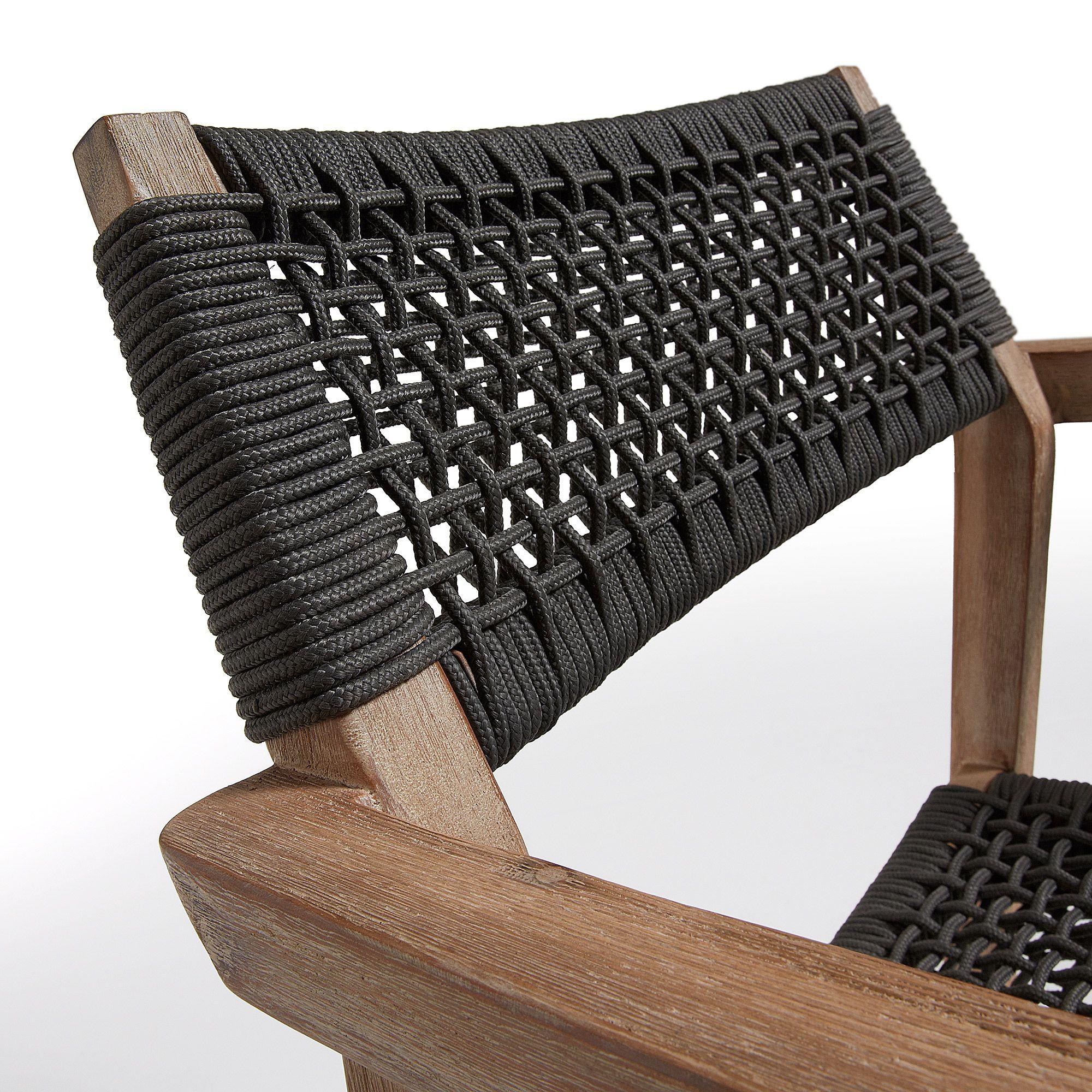 LaForma Corvette Spisebordsstol m/armlæn - Mørk grå