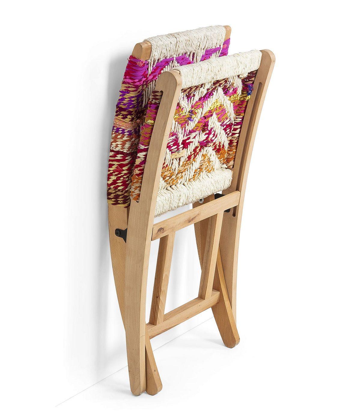 LaForma Heane Foldestol mangotræ - Flettet garn