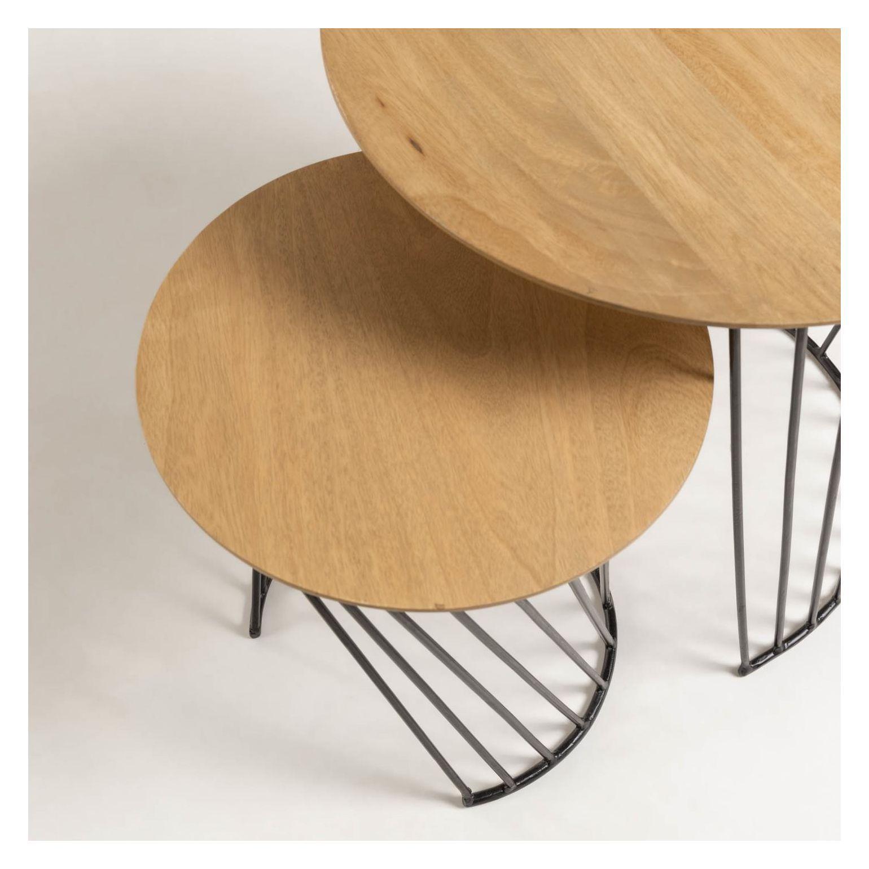 LaForma Leska Indskudsbord - Lys Træ, Ø50