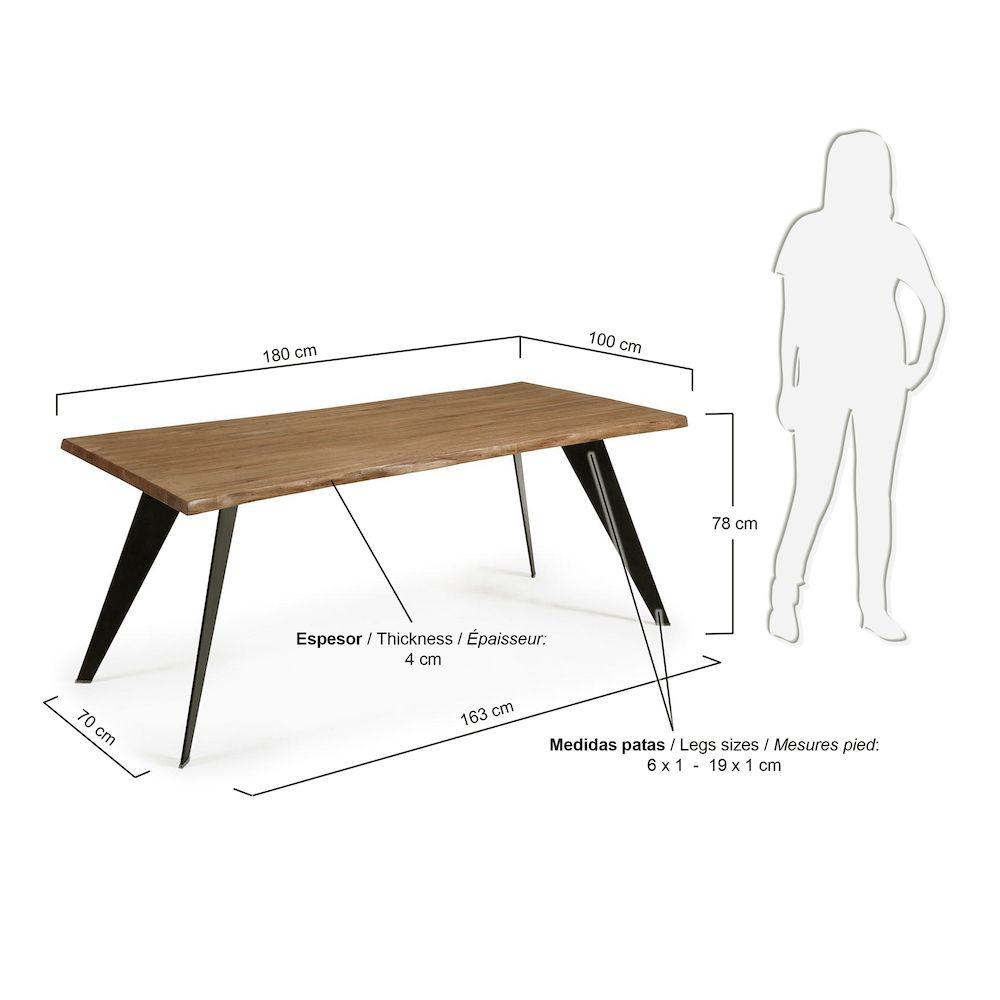 LaForma Nack Spisebord - Antik Eg