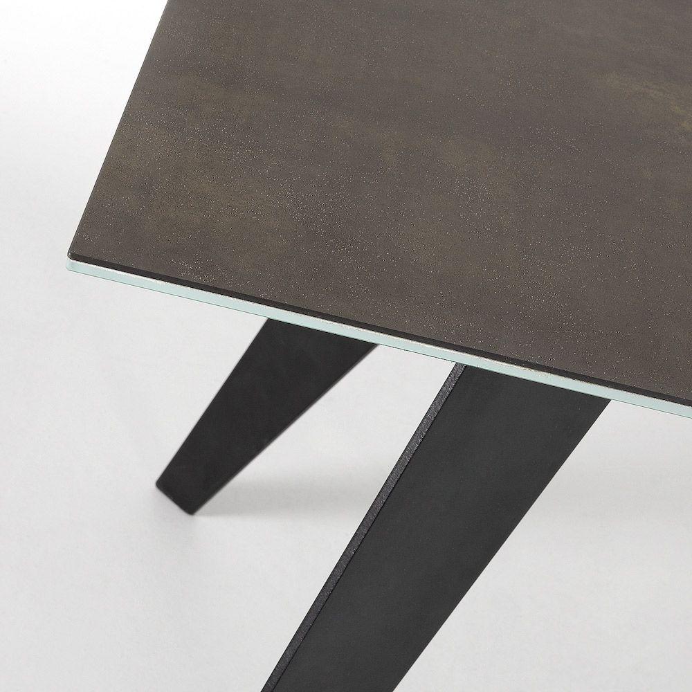 LaForma Nack Spisebord - Mørk Brun Keramik