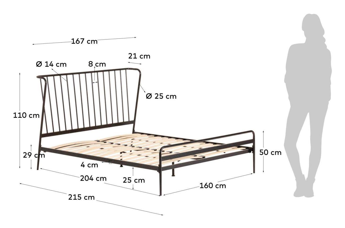 LaForma Narlu Sengeramme - Graphite Metal, 160x200