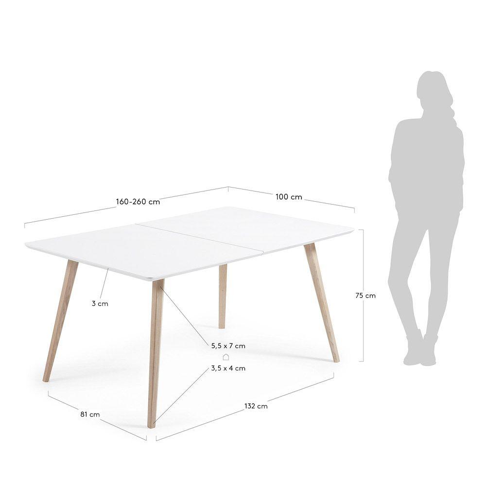 LaForma Quatre Spisebord - Pure White