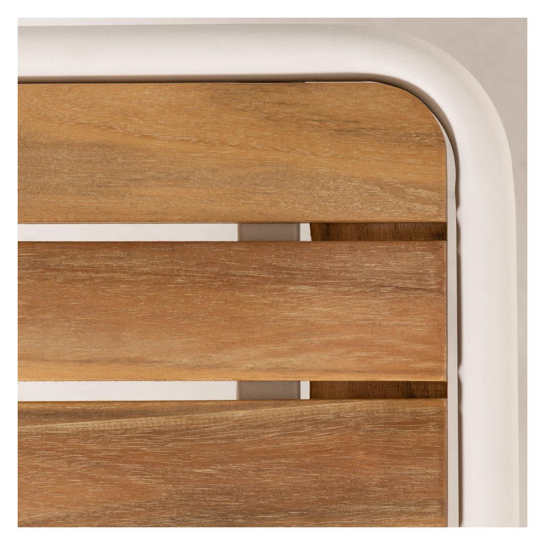 LaForma Robyn Loungebord, Lys Træ/Hvid, 90x48