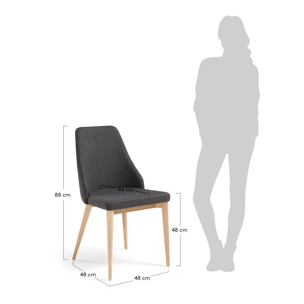LaForma Roxie Spisebordsstol - Mørk Grå