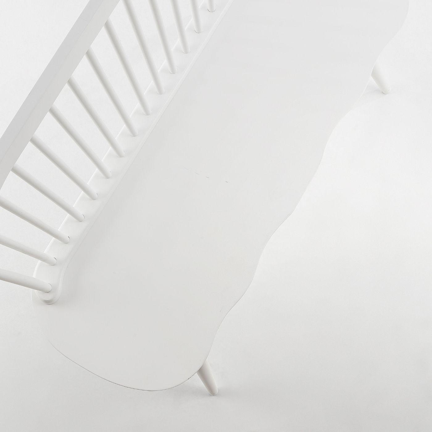 LaForma Slover Bænk 120 cm - Hvid