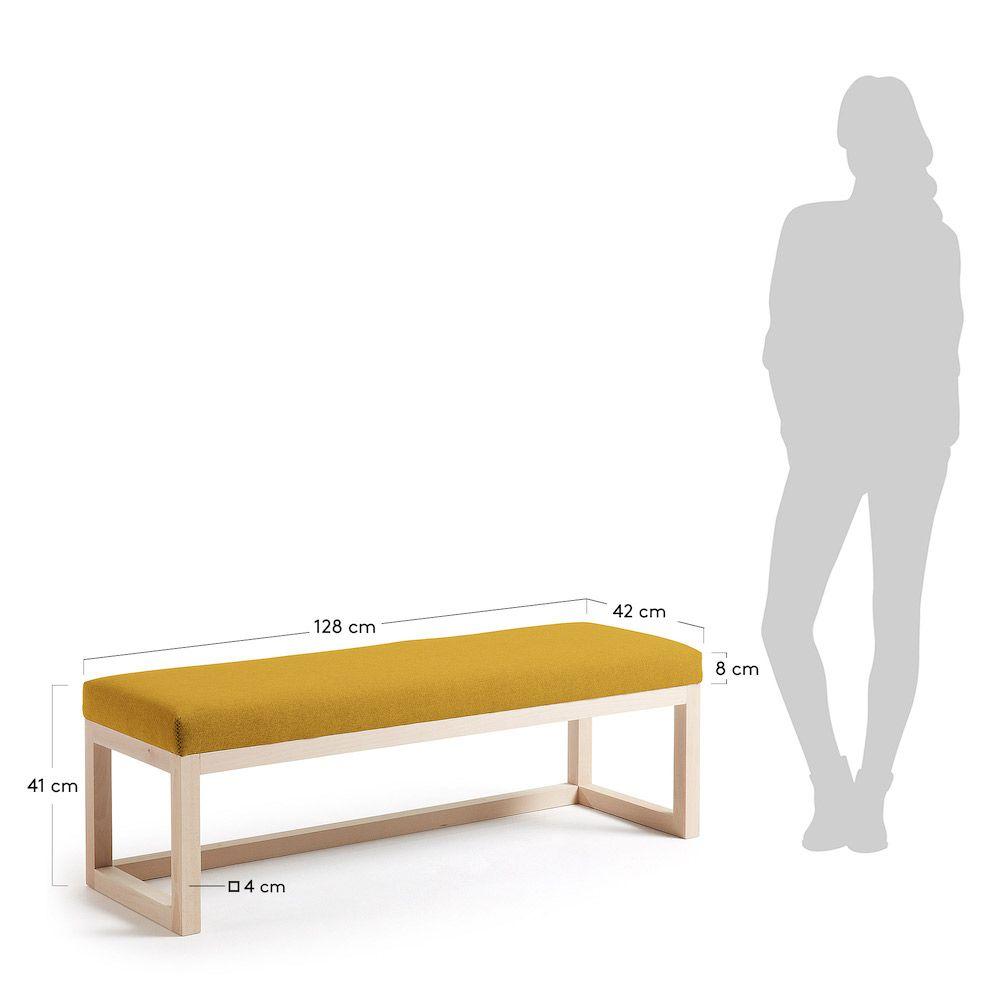LaForma Yola Bænk - Mustard