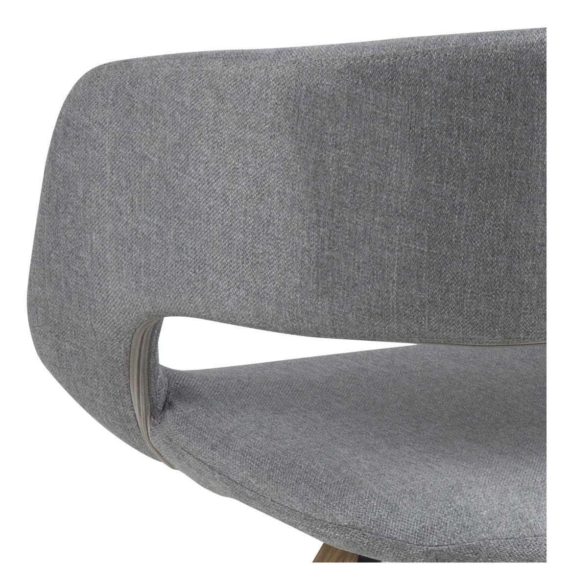 Kline Spisebordsstol m/centerben - Lysegrå stof - Spisebordsstol med centerben