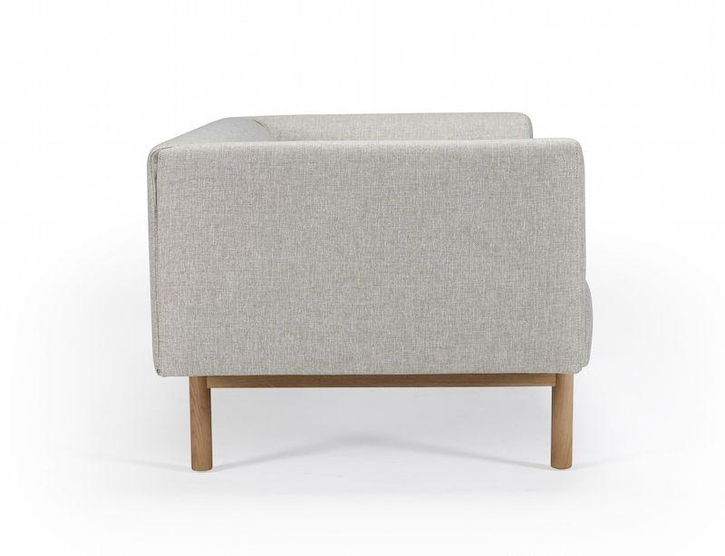 Kragelund Ebeltoft 2-pers. sofa Beige - Helpolstret sofa med egeben