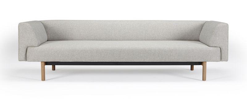 Kragelund Ebeltoft 3-pers. sofa Beige - Helpolstret sofa med egeben