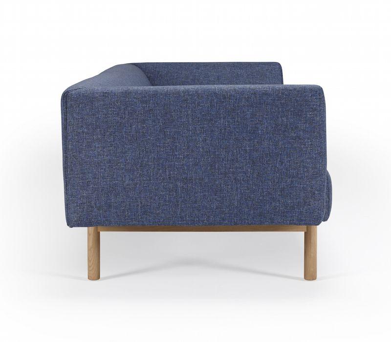 Kragelund Ebeltoft 3-pers. sofa Blå - Helpolstret sofa med egeben