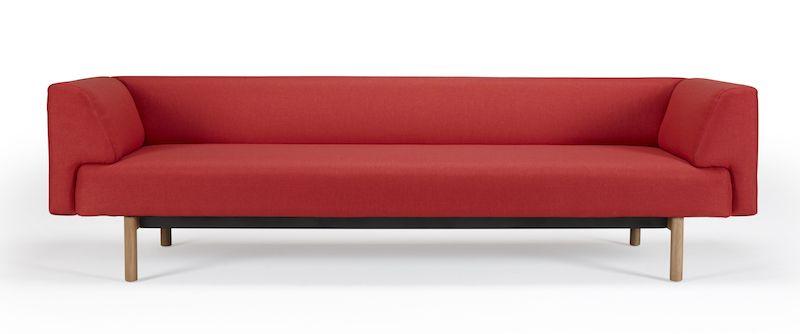 Kragelund Ebeltoft 3-pers. sofa Rød - Helpolstret sofa med egeben