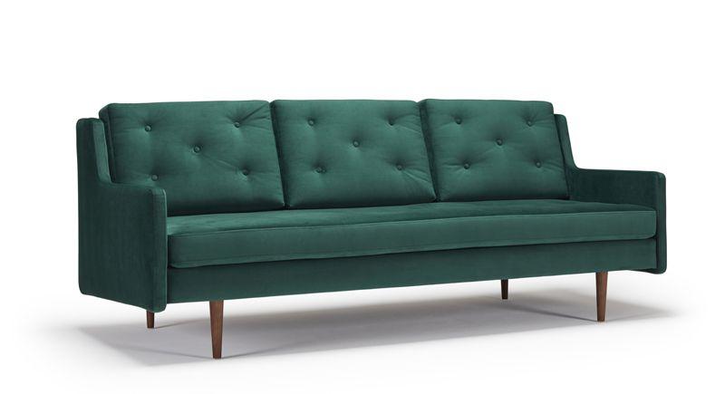 grøn sofa Kragelund Furniture   Holme 3 Pers. Sofa   Grøn grøn sofa