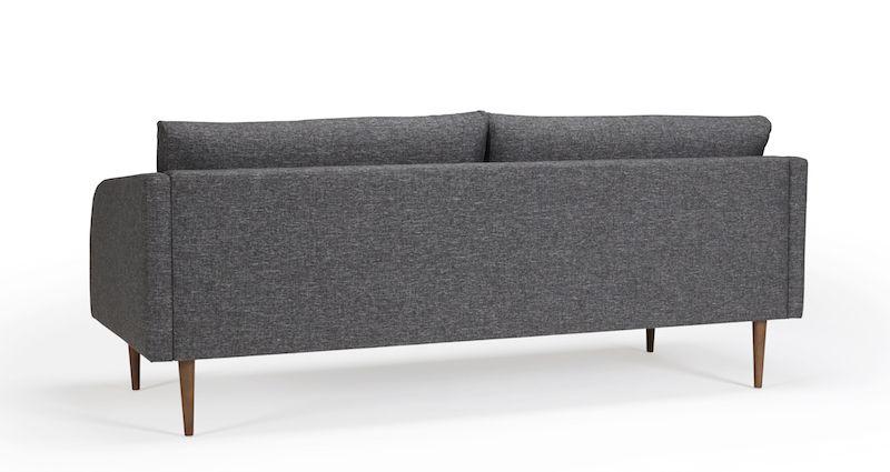 Kragelund Husum 3-pers. sofa Grå - Helpolstret sofa med ben i valnød
