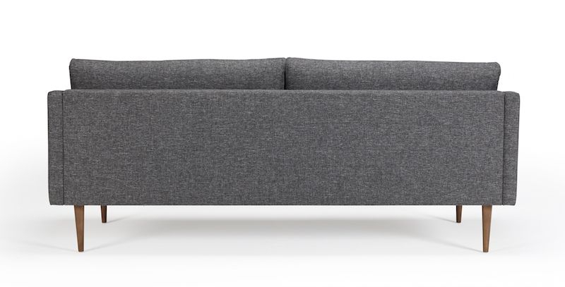 Kragelund Hugo 3-pers. sofa Grå - Helpolstret sofa med ben i valnød