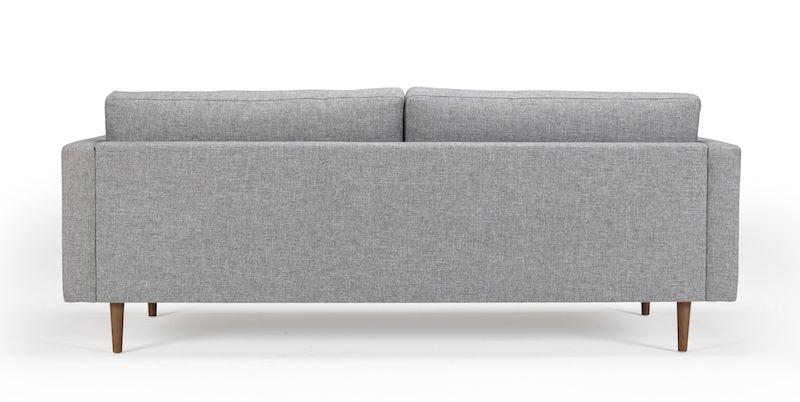 Kragelund Otto 3-pers. sofa Grå - Helpolstret sofa med ben i valnød