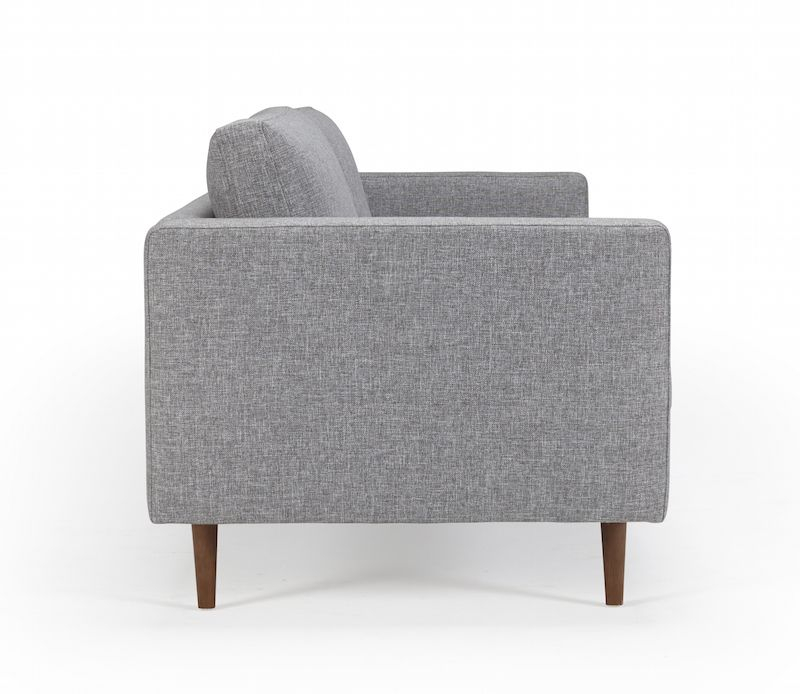 Kragelund Obling 3-pers. sofa Grå - Helpolstret sofa med ben i valnød
