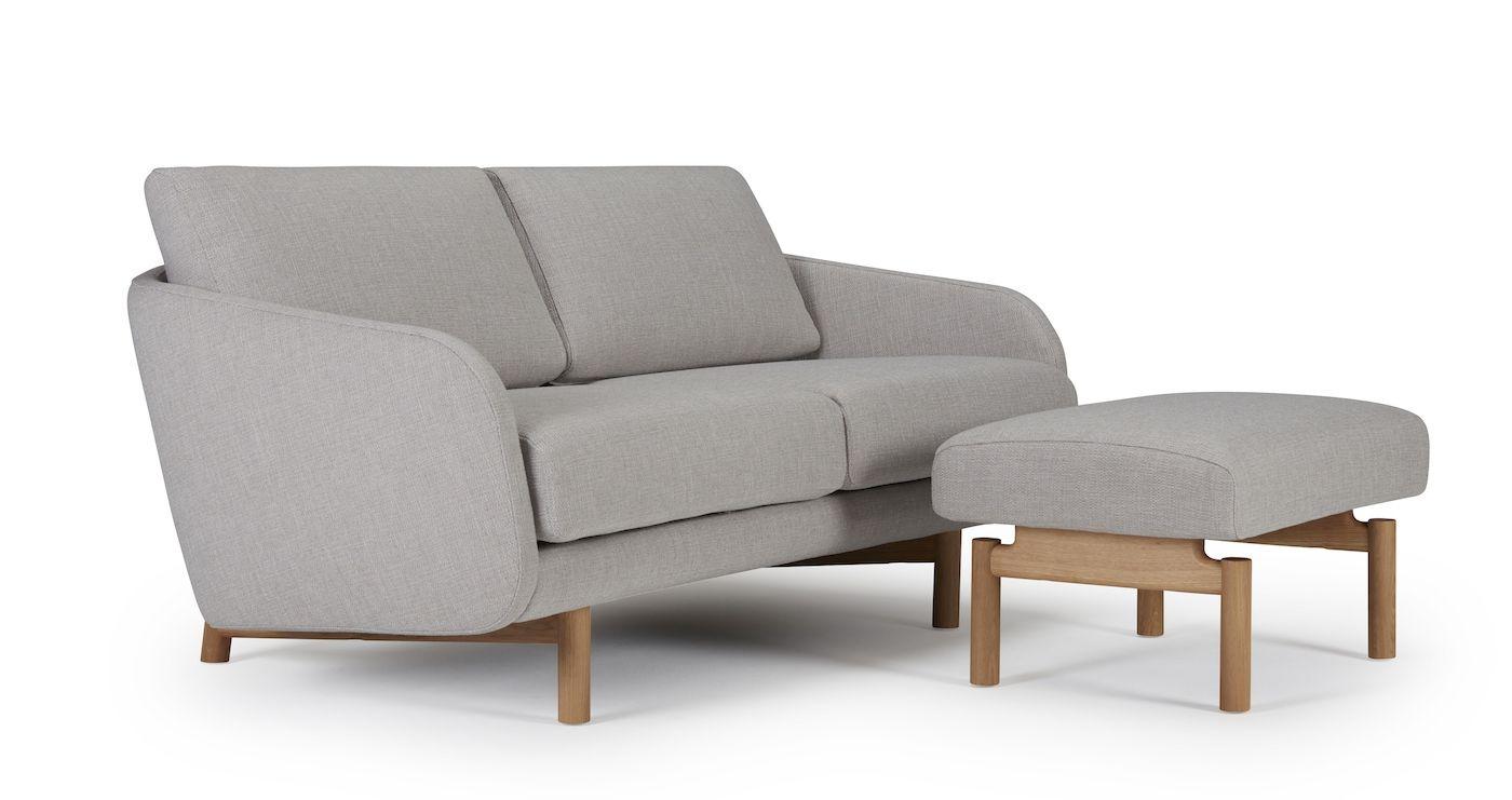 Kragelund Tved 2-pers. sofa Grå Stof