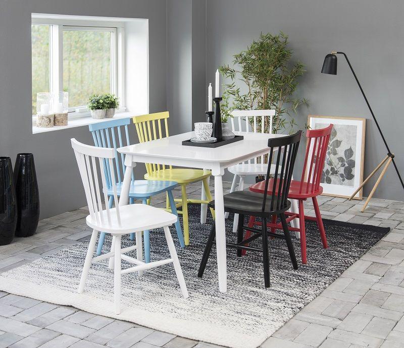 Lango Spisebordsstol - Sort - Sort spisebordsstol med tremmer i ryggen