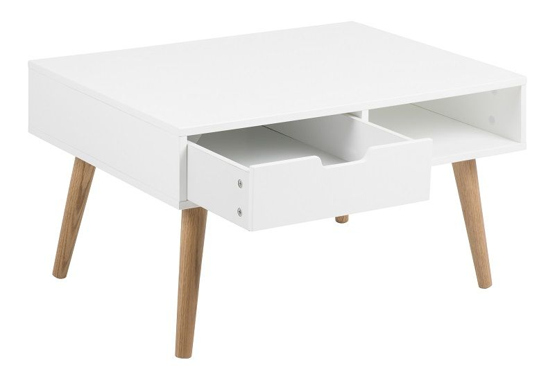 Liam Sofabord m/skuffe - Hvid - Hvidt sofabord med skuffe