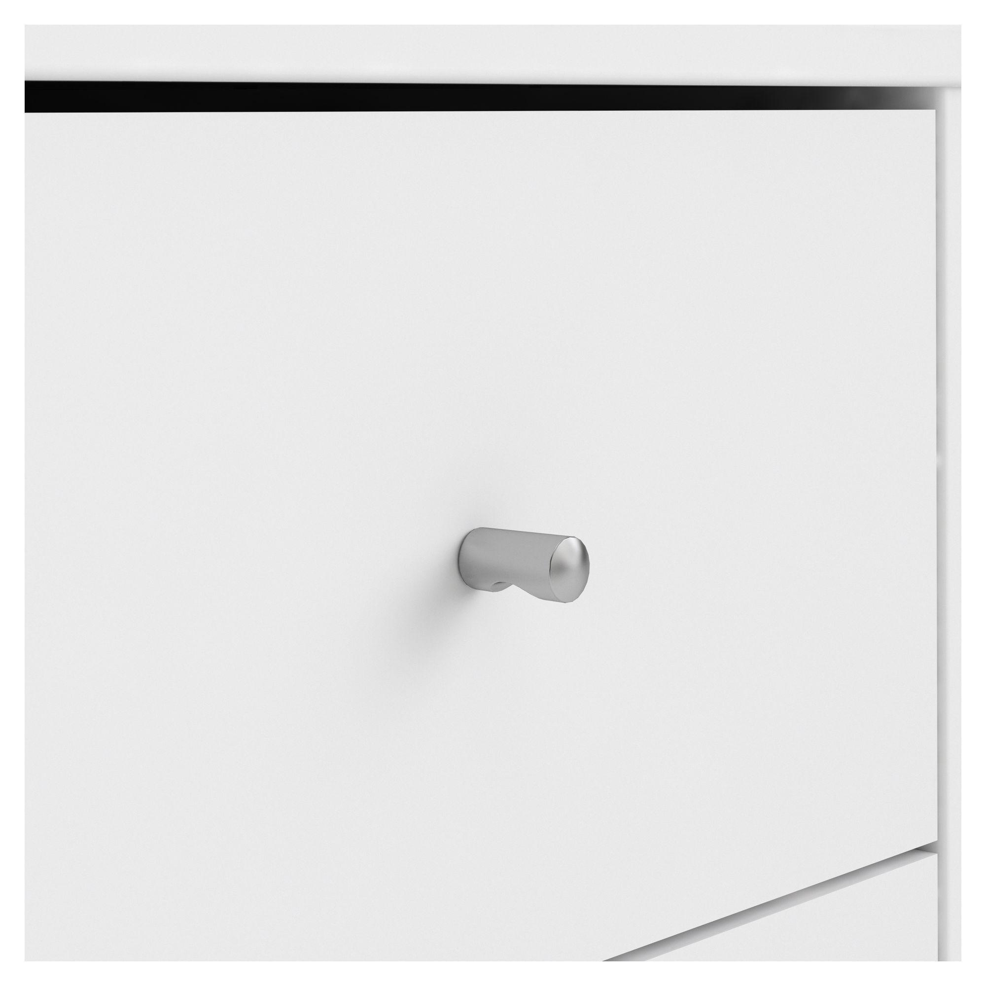 Linate Modul Reolvæg m. lav skænk - Mat Hvid/Egeben
