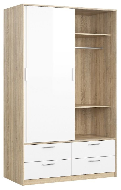 Line Garderobeskab - Lys træ - Smart garderobeskab