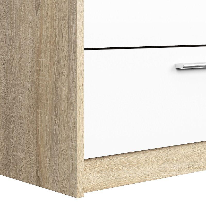 Line Garderobeskab - Hvid højglans - Smart garderobeskab