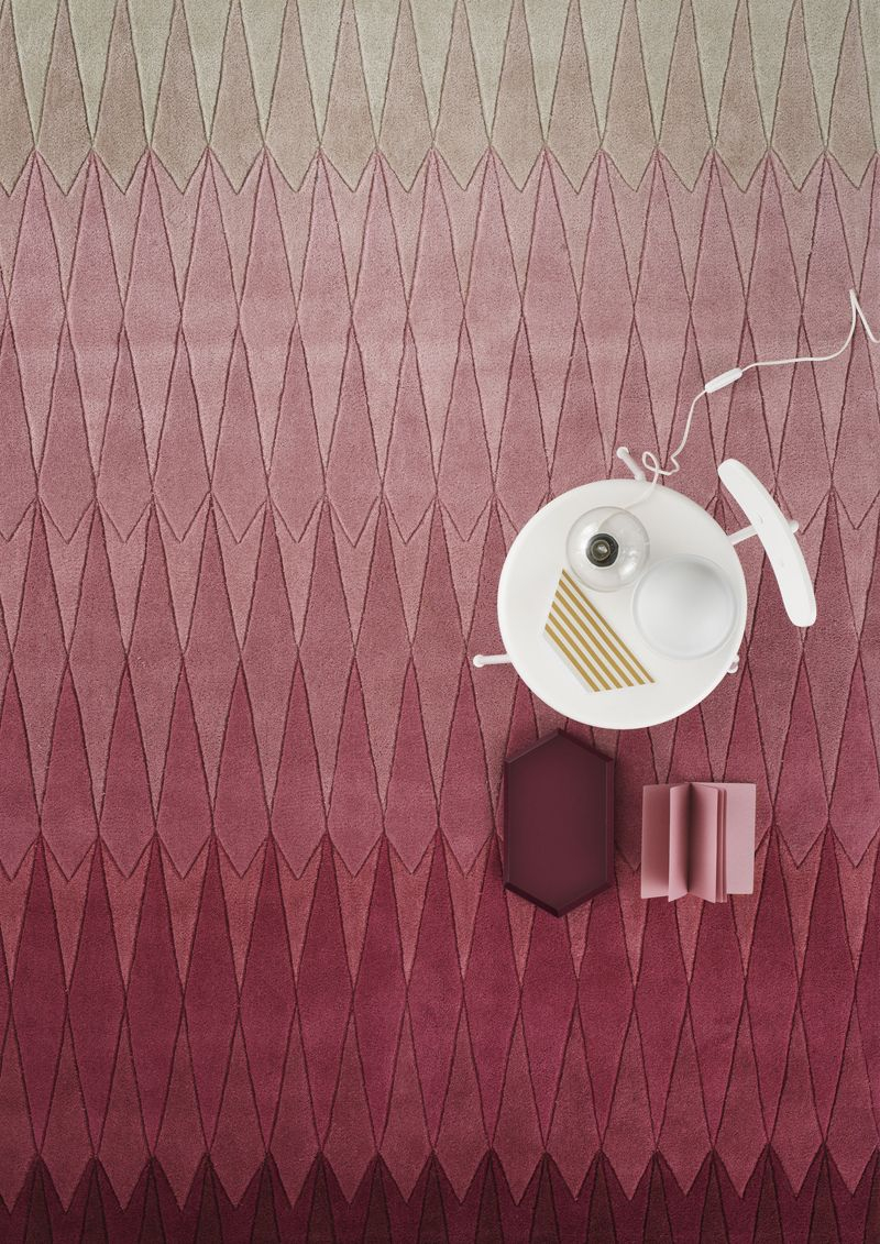 Linie Design Acacia Tæppe - Pink - 200x300 - 200x300 cm