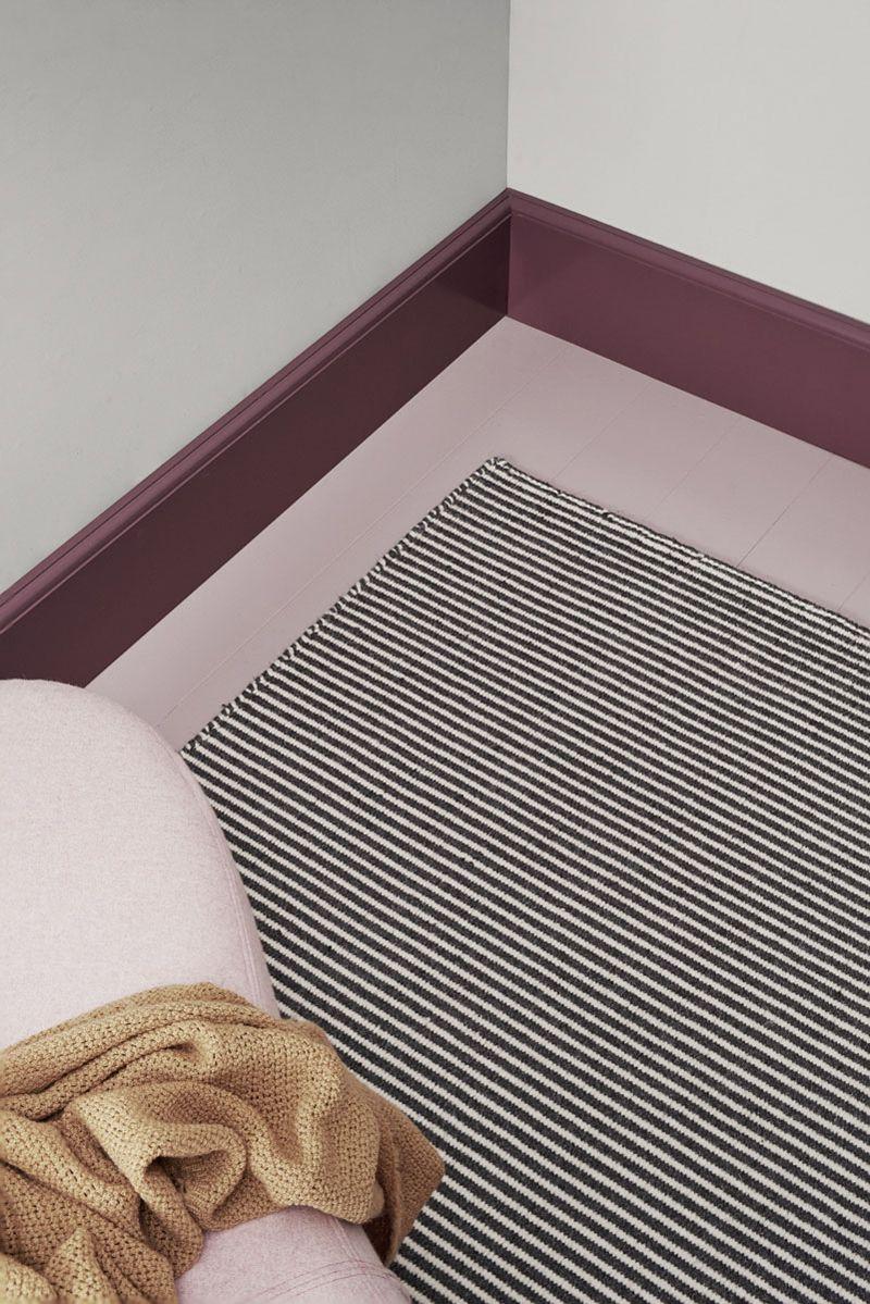 Linie Design Ajo Grå uld tæppe - 160x230