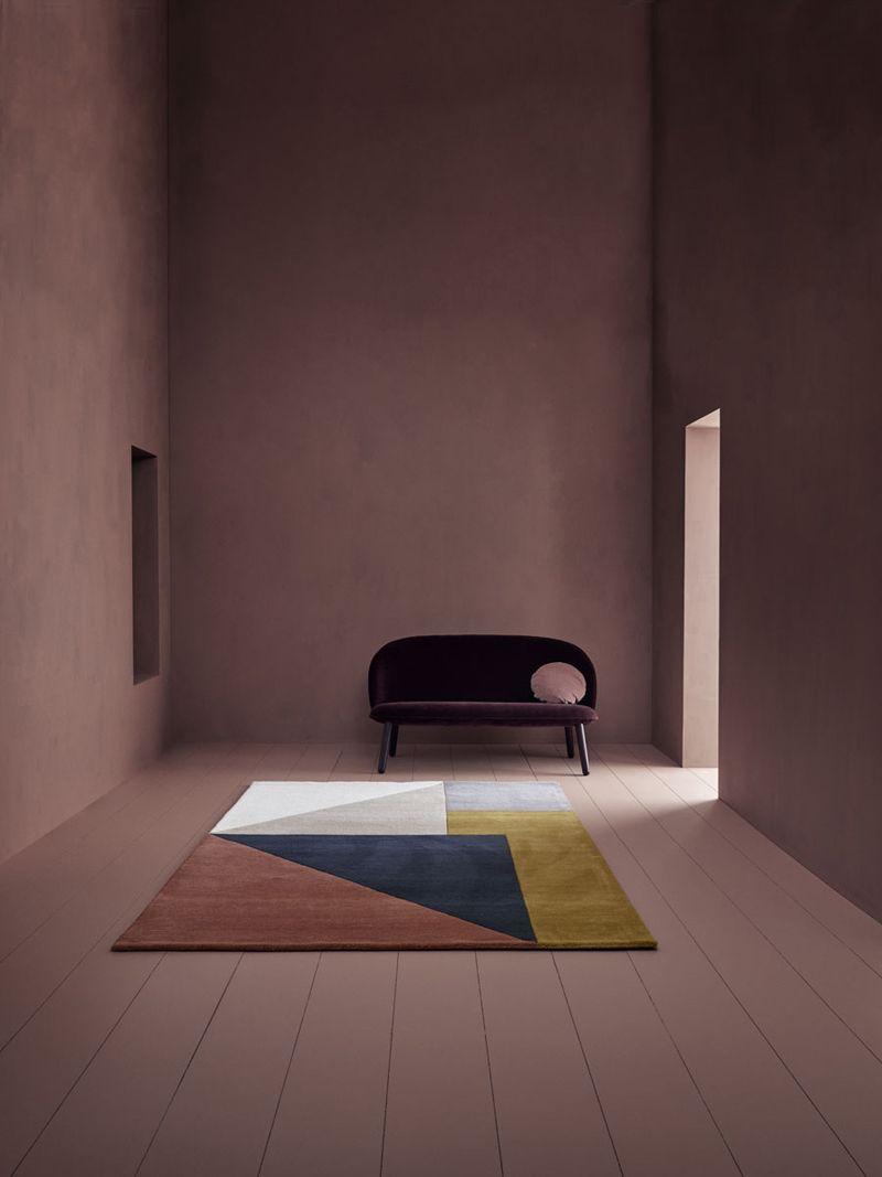 Linie Design Arguto multi Håndtuftet,Uld - 140x200 - Uld tæppe i multifarvet