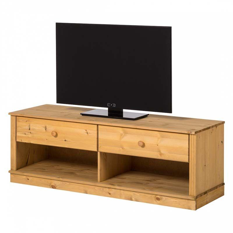 Anja TV-bord - bejdset fyrretræ - Enkelt TV-bord i træ
